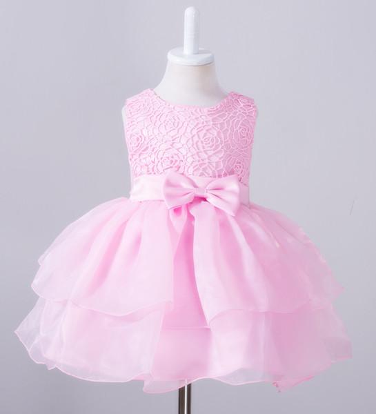 Kurze Rüschen Perlen Cupcake Geburtstag Mädchen Festzug Kleid 2019 Mädchen Kommunion Kleid Kids Formal Wear Blumenmädchenkleider für Hochzeit