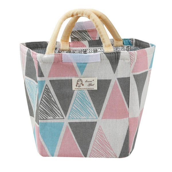 Floral Oxford Tote Lunch Bag Insulat Food Storage Bag Portable Lunch Bag 520