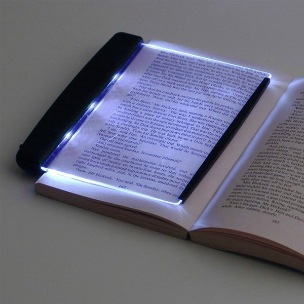 Notte Light Reading Panel creativo piatto Piastra LED luce del libro di viaggio auto portatile Desk Lamp Led Eye Protect per la casa camera da letto