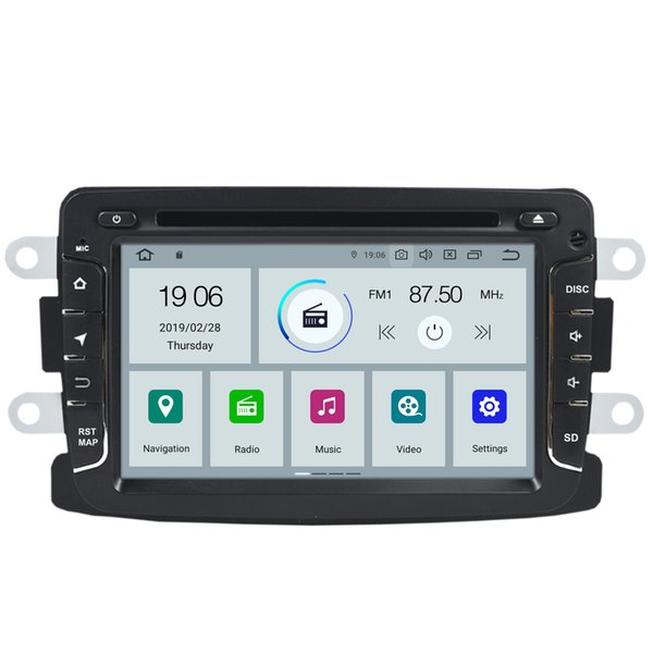 "COIKA 7"" Android 9.0 4-Core Car DVD Multimedia Player For Renault Duster Logan Lada XRAY Symbol Dacia Dokker 2+16G RAM GPS Navi OBD"