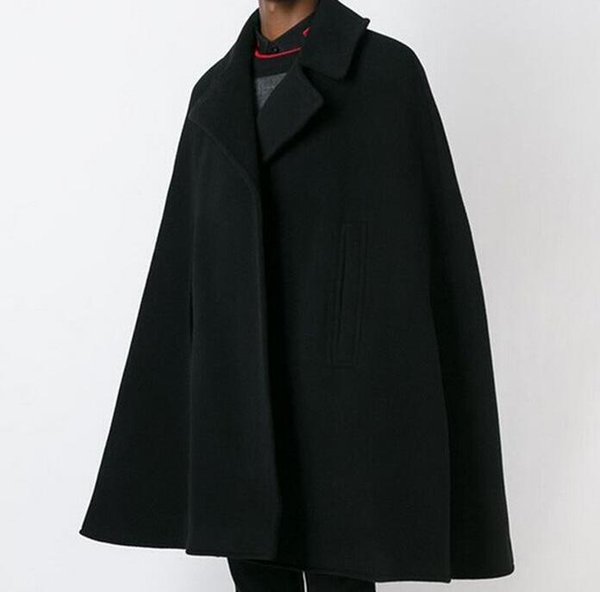S-6XL CALIENTE 2018 Primavera Masculina Nueva Moda Personalizada personalizada capa de costura suelta en el largo abrigo de lana