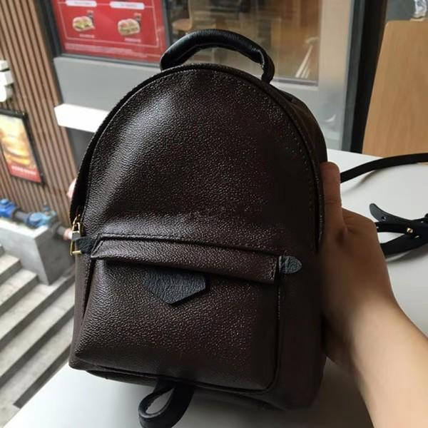 Toy material new style Fashion Designer Palm Springs Backpack Mini genuine leather children backpack women printing leather