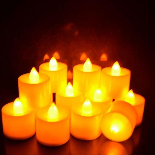 Candles Lamp For Home Decor Led Plastic Candle Shape Light Fliker Flameless 2pcs C19041901