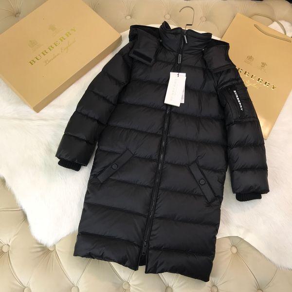 Children down jacket kids designer clothing winter boys and girls long down jacket long knee length hat detachable design coat