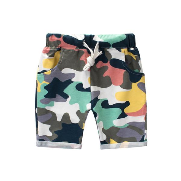 Vêtements garçon en gros Shorts Camo Casual Cotton String taille Cinq pantalons 100% coton 2019 été pas cher