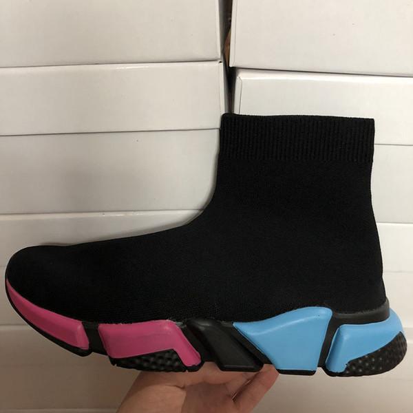 2019 бесплатно хорошее качество с коробкой зум скольжения на скорость тренер стрейч Mercurial XI черный высокая помощь носки обувь Повседневная обувь мужчины и женщины