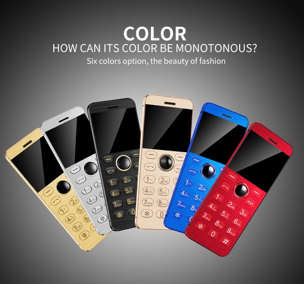 Mini Card Cell Phone Unlocked GSM Students Version Kids Mobile Smartphone Partner 2.5G Network Metal Body Senior Bar Russian Thin Cellphones