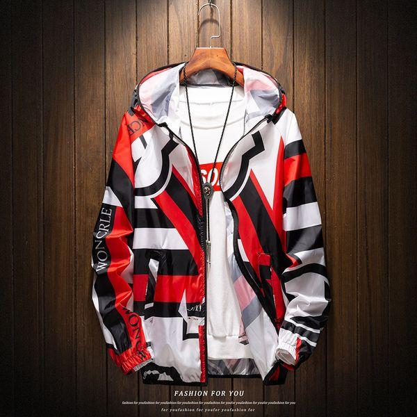 Солнцезащитная Одежда Мужская Тонкий 2019 Новый Летний Ветровка Красивый Куртка С Капюшоном Мужское Пальто Плюс Размер