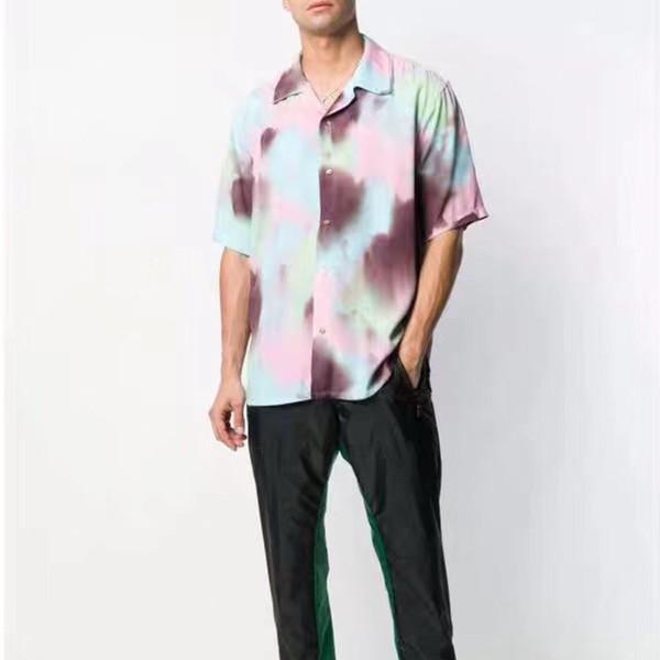 European Luxury 19ss Ambush Hawaiian Alphabetische Stickerei Hemd Retro High Street Fashion Bluse Frauen Herren Designer Hemd Hfyycs028