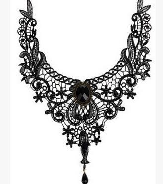 Lace ornaments Lace Necklace Wild neck chain Fashion Flower Neck Chain Clothing Necklace Fashion Bundle Neck Chain