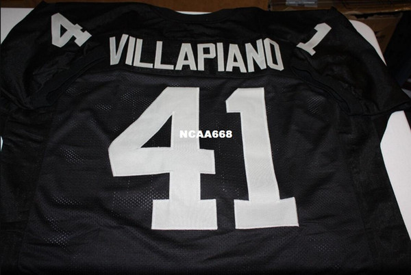 best selling Men Phil Villapiano #41 Sewn Stitched RETRO JERSEY Full embroidery Jersey Size S-4XL or custom any name or number jersey