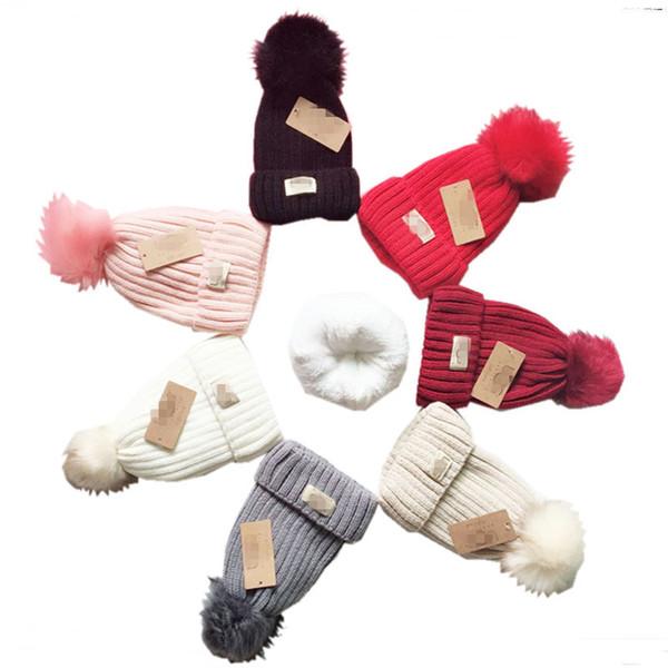 Compre Marca Australia UG Pom Pom Sombreros De Invierno Cálido Punto ...