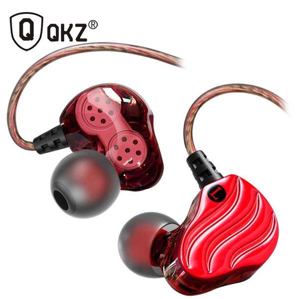Free shipping KD4 Ear-mounted headphones Dual Unit bass Headset with MIC HIFI bass Headphone Straight-line Headphones