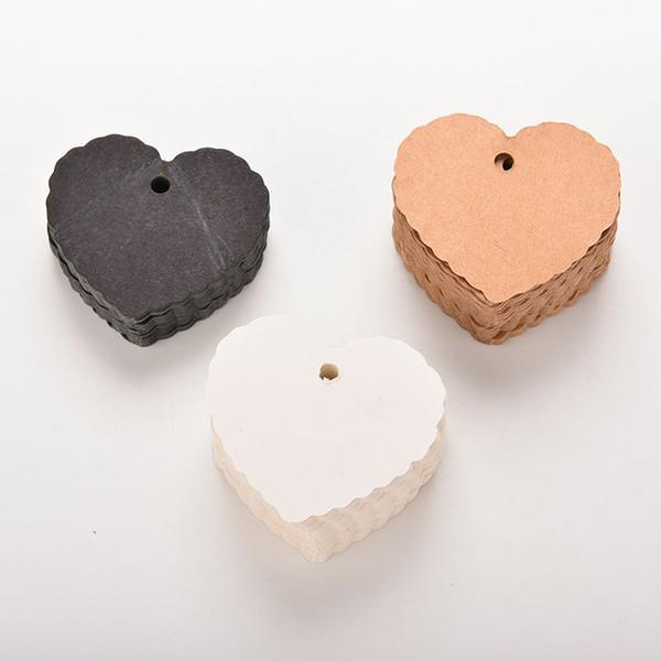 100pcs cartão de etiquetas em branco Coração de bagagem Tag Saudação partido do presente do partido do casamento de papel Kraft Cartões Prec