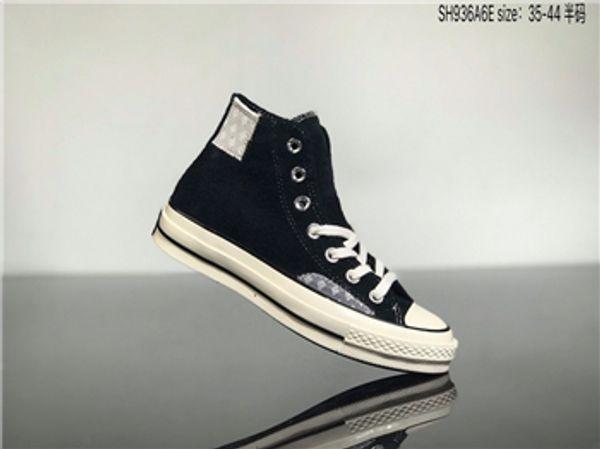 Converse Off White hococal envío libre nueva calidad zapatos de lona zapatos de lona clásicos del alto estilo bajos de los hombres de la mujer y zapatos de lona ocasionales