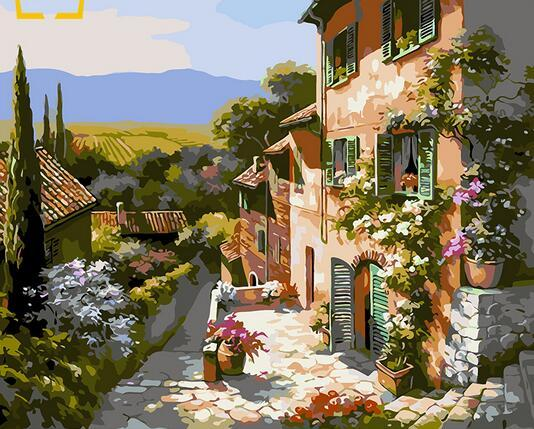 40x50cm New home decor paintings on canvas DIY oil painting by numbers drawing a nodal image one Wall Art landscape Seaside