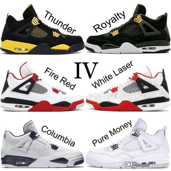 Bair 1 JD 1 Üst 4 4 s Erkekler Basketbol Ayakkabıları Yeni Beyaz Lazer Siyah Kedi Thunder Askeri Mavi 2019 Tasarımcı Ayakkabı Spor Sneakers Boyutu 7-13