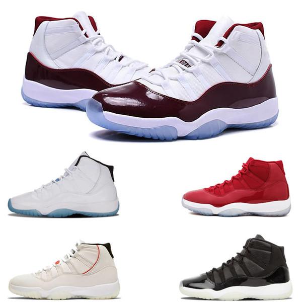 Heiße Verkäufe Snakeskin Basketballschuhe Frauen Concord 11 Gym Red Chicago 11s Athletic Turnschuhe Herren Platinum Tint Bred Designer Schuhe 36-47