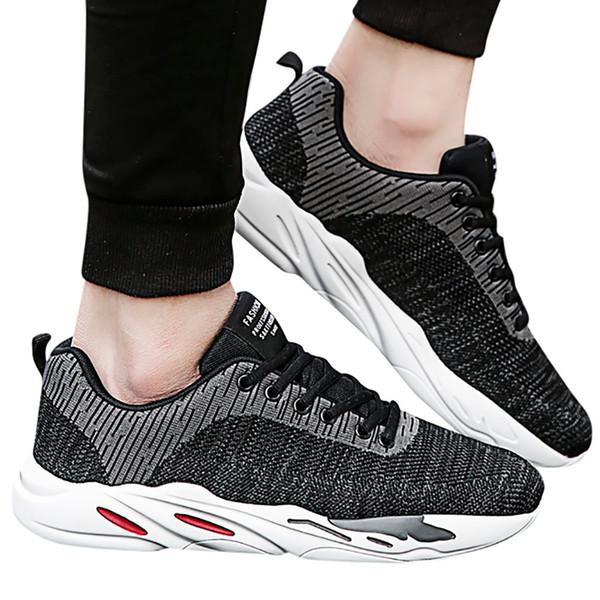 YOUYEDIAN Mesh Дышащие балетки кроссовки для мужчин мода Бег Новое прибытие Non-Slip Sneakers досуг полосатые кроссовки