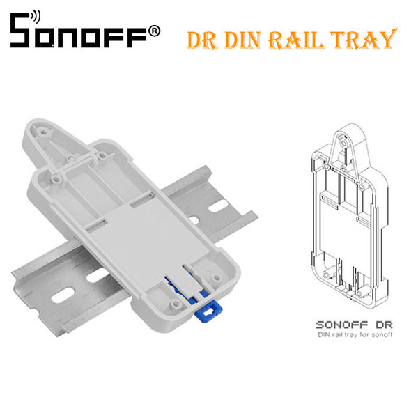 2 PCS SONOFF For Basic/RF/ Pow/ TH10/16/ Wifi Smart Switch DR DIN Tray Rail Case Holder Mounted Adjustable Box Cover Home Alexa