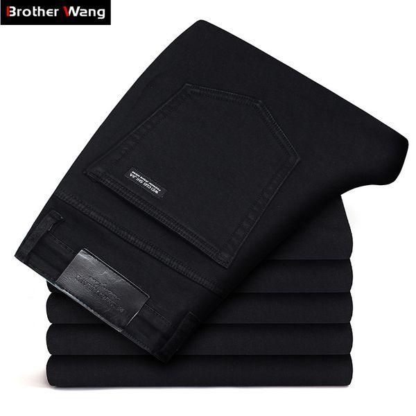 Markalar Kot Pantolon Erkek Giyim 2019 Yeni Siyah Esneklik Skinny Jeans Iş Rahat Erkek Kot Ince Pantolon Klasik Tarzı SH190825