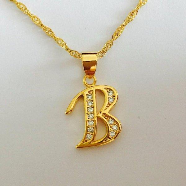 Jewels88 Jewels88 Ücretsiz Nakliye, Moda Punk Kaltak kötü Mektubu B Alaşım Kolye Kolye, Takı Toptan