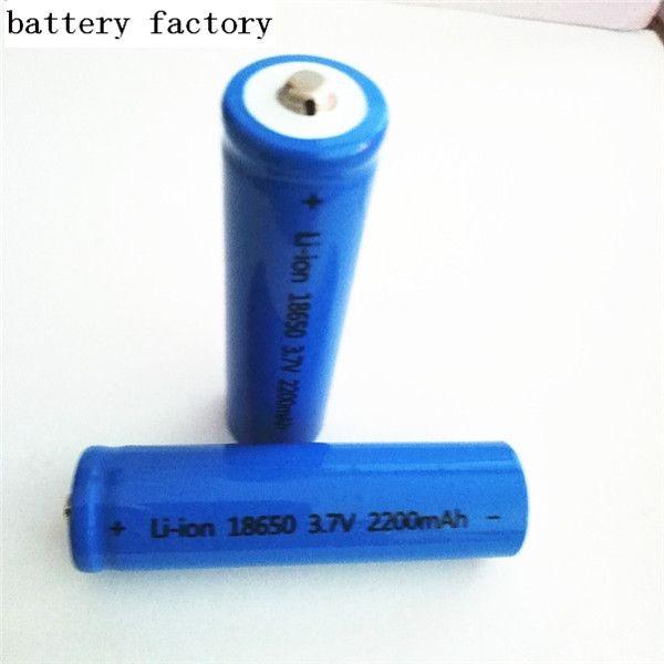 18650 2200 мАч 3.7 В заостренная литиевая батарея может использоваться для электронных продуктов, таких как яркий фонарик. F