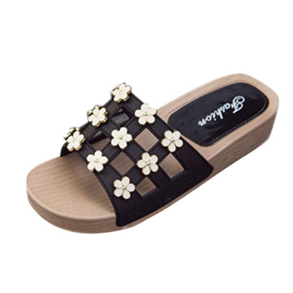 Pantofole estive Scarpe da spiaggia piatte da donna Pantofole da casa da donna Womans Pantofole infradito da donna semplici