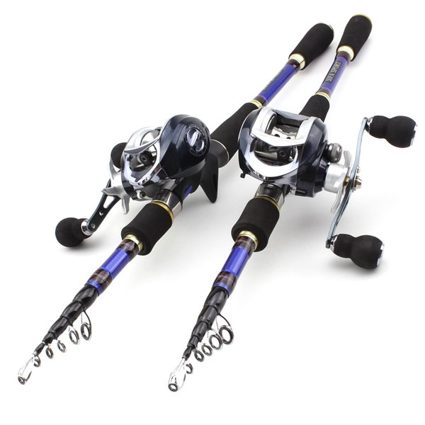 1.8m-2.7m carbon trout lure rod casting rods and casting reels fishing set travel tackle fishing set rod thumbnail