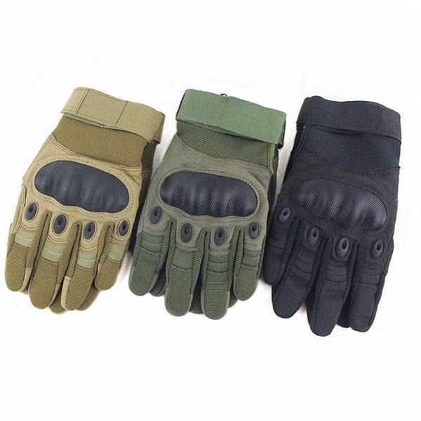 2018 outdoor tactical gloves military army hiking cycling hunting shooting airsoft protection shell full finger gloves for mens thumbnail