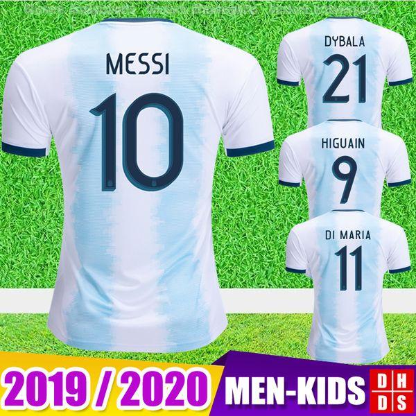 2019 Arjantin Futbol Forması Copa Amerika 2020 Yeni MESSI DYBALA HIGUAIN ICARDI Camisetas de futbol Erkek Kadın Çocuklar Çoc ...