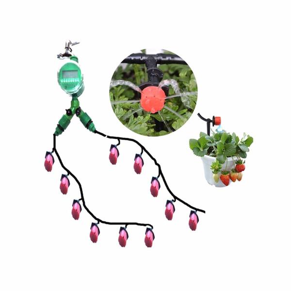 30m 4 / 7mm Tuyau De Jardin Horticole Jardin Irrigation Costumes Système D'irrigation Goutte À Gout À La Maison Plantes À Fleurs Kits D'arrosage