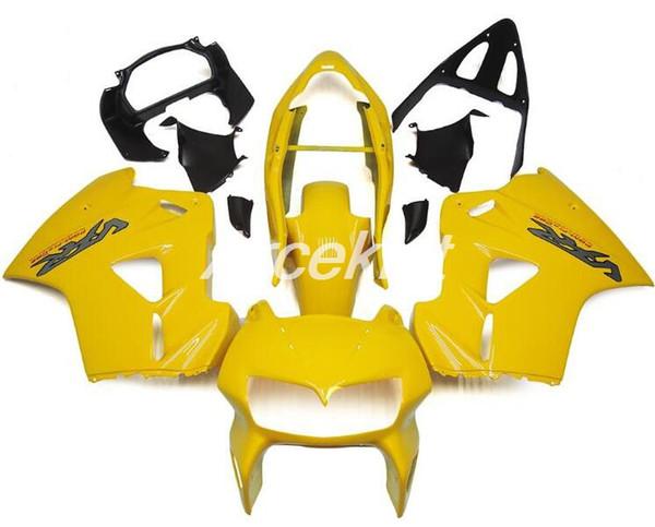 kits 4Gifts nouveaux ABS complets Carénages pour Honda VFR800 1998 1999 2000 2001 98 99 00 01 VFR brillant jaune