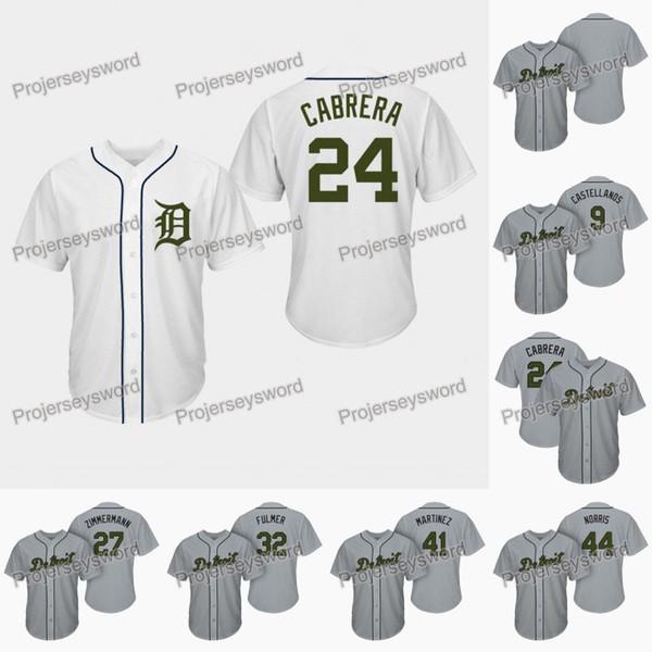 Detroit Miguel Cabrera Anma Günü Kaplanlar Forması Nick Castellanos Zimmermann Michael Fulmer Victor Martinez Daniel Norris Beyzbol Formalar