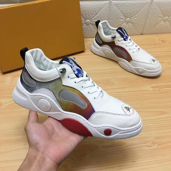 2019 hot new designer shoes RUN designer ladies men's sports and leisure leather mesh casual shoes 38-45 bv02