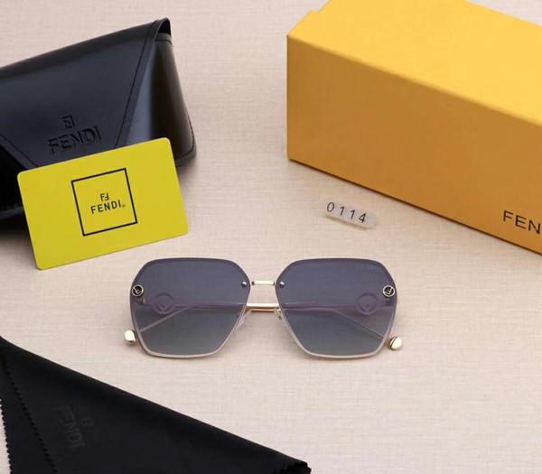 Occhiali da sole di marca Occhiali da sole firmati Marchio Fen0114 per donna Occhiali affascinanti con qualità della dea della moda UV400