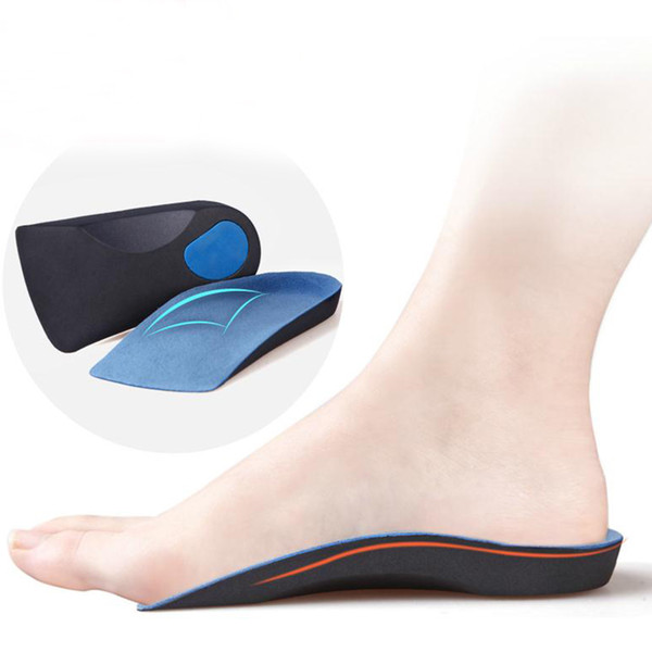 2de6dcf4bc Half arch support orthopedic insoles for flat foot correct 3/4 length insole  feet care