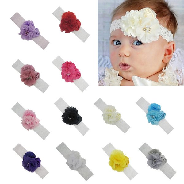 Baby Girls Headbands flower Lace Mesh Hairbands Infant Toddler Hair Band Head piece Children Hair Accessories Newborn Headwear