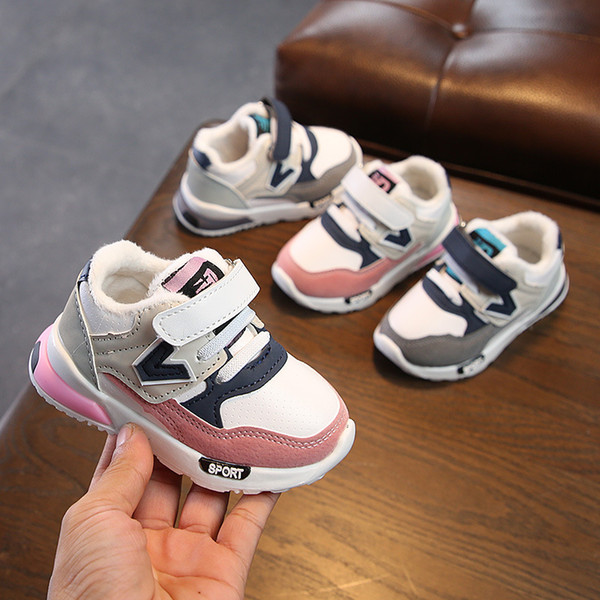 Winter 1-6 Years Old Baby Cotton Shoes Boys And Girls Baby Toddler Shoes Soft Bottom Children Korean Version Of The Tide