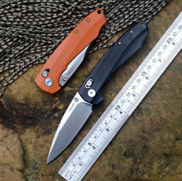 Y-START JIN04 faca dobrável Borboleta lâmina de cetim rolamento de esferas arruela G10 lidar com acampamento ao ar livre caça faca de bolso eixo sistema de bloqueio