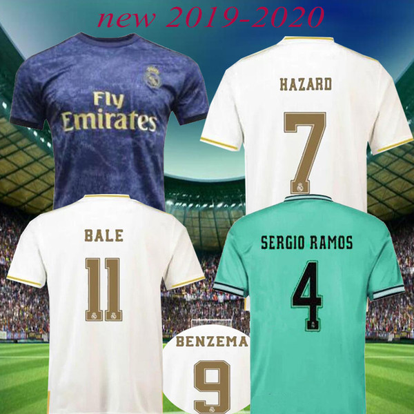 2019 Real Madrid maillots de football adulte 2020 HAZARD MILITAO MODRIC photo de football BALE SERGIO RAMOS ASENSIO shirts de football enfants