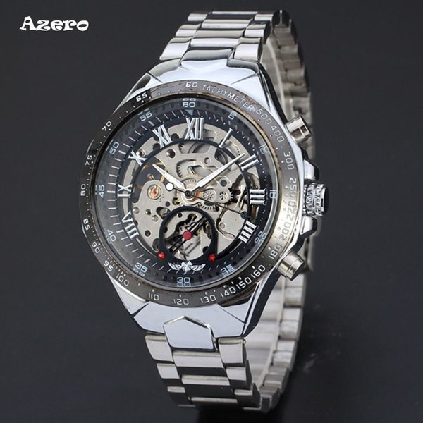 Winner New Number Sport Design Bezel Golden Watch Mens Watches Top Brand Luxury Montre Homme Clock Men Automatic Skeleton Watch J190614