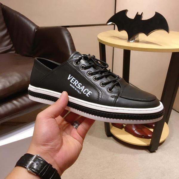 2019a otoño nuevos zapatos deportivos privados de gama alta para hombres, zapatos deportivos de cuero, zapatos casuales salvajes de moda, tamaño: 38-44
