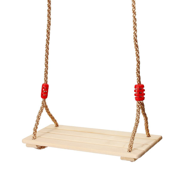 Adults and children Swing Wooden Swing with Rope Toys for Children Outdoor Garden Swings D19011702