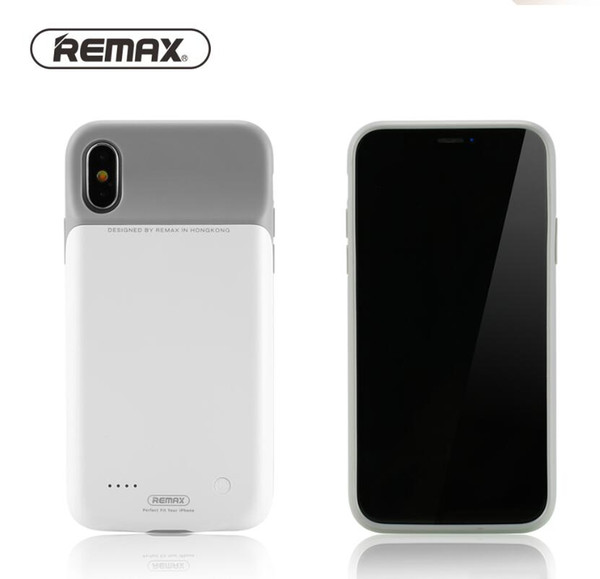 Original Remax 4000mah Power Bank Case for iPhone X XS MAX XR Ultra Slim External Backup Battery Charger Soft TPU ABS Case