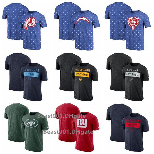 Erkekler Redskins Şarj Ayılar Titanlar Steelers Raiders Jets Giants Patriots Fan Gear Icon Performans Tişört