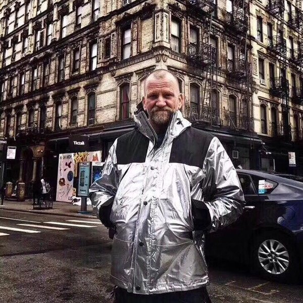 Men Winter Jackets Windbreaker Male Clothing Hoodie Reflective Silver Gold Homme Jacket High Street Man Hooded Coat