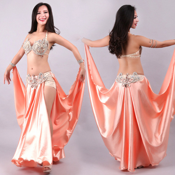 Dança novidade Sexy Mulheres Belly Nacional ternos rosa Modern Dancing Stage Desempenho das senhoras sutiã e saia Sets
