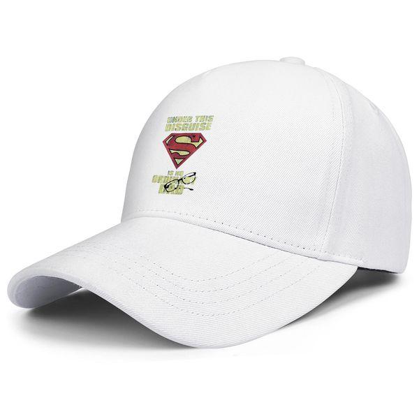 Superman Superdad Super Dad Logo white mens and womens trucker cap ball design designer design your own team youth hats