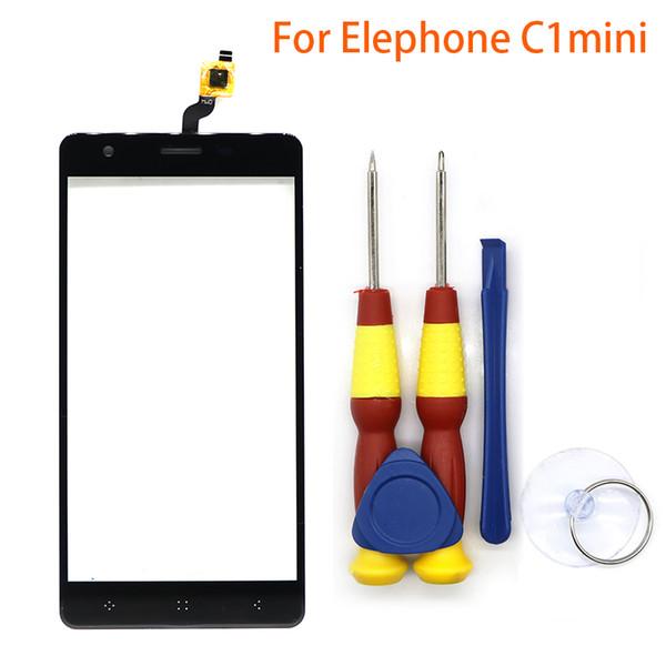 Nuovo touchscreen originale Touch Panel per Elephone C1 mini pezzi di ricambio + strumento di smontaggio + adesivo 3M